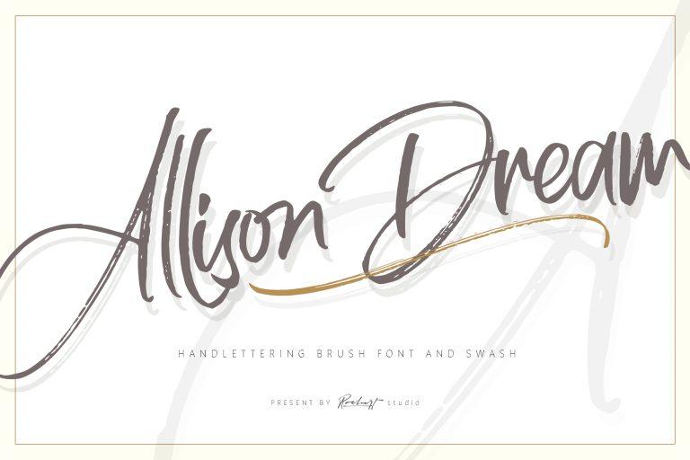 Allison Dream Brush Script