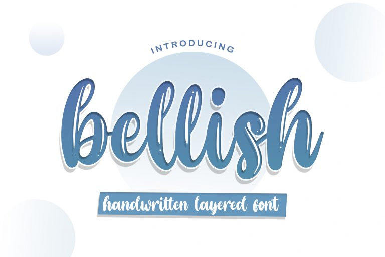 Bellish Layered font