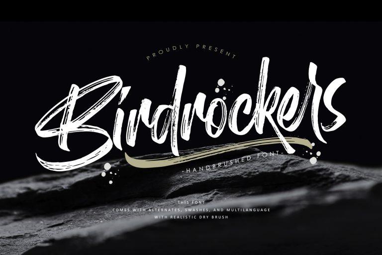 Birdrockers || Realistic Brush Font