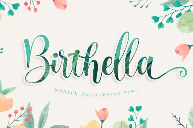 Birthella || Modern Calligraphy