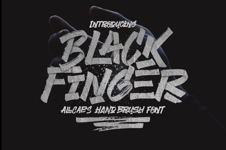 Black Finger Brush Font