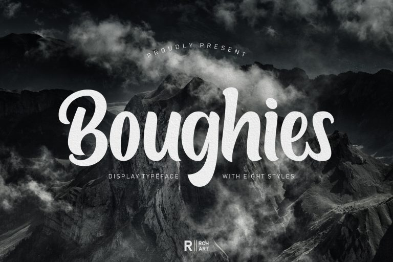 Boughies Display Typeface