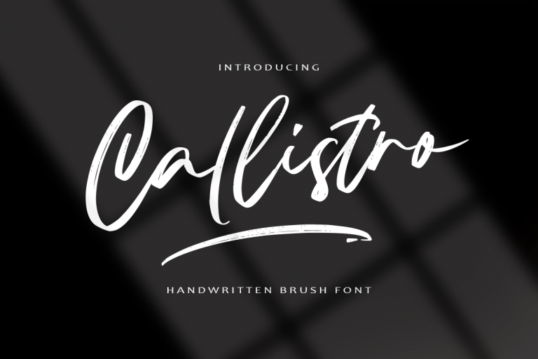 Preview image of Callistro || BRUSH FONT