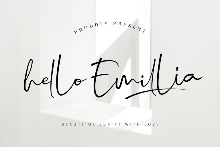 Preview image of Hello Emillia Script