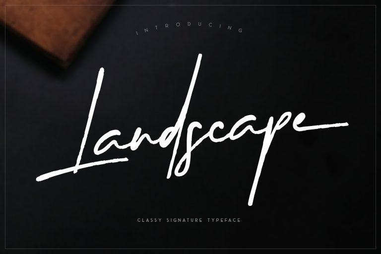 Landscape || Signature Font