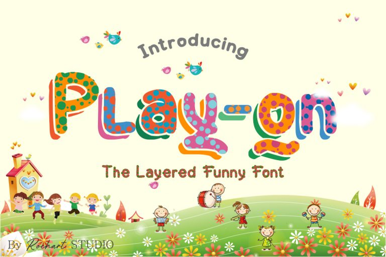 Preview image of Play-on Layered Font