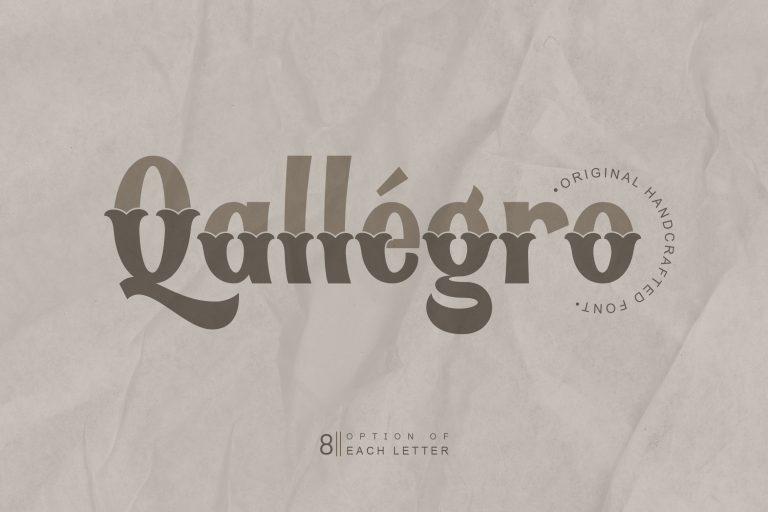 Qallégro | Original Handcrafted Font