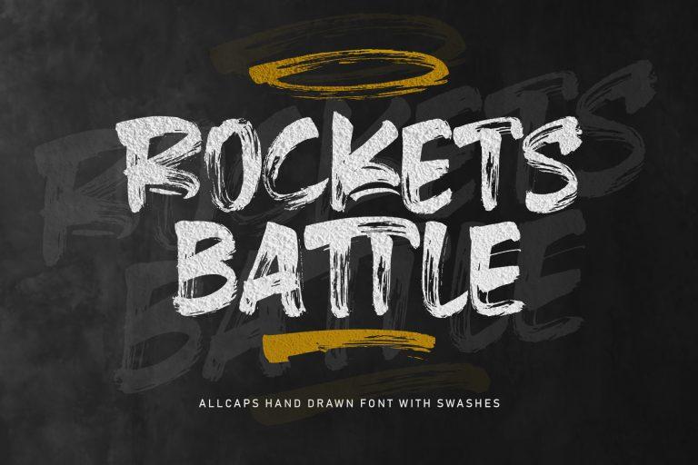 Rockets Battle Hand Drawn Font