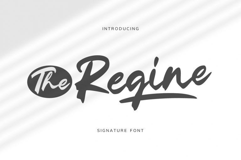 The Regine || Signature Font