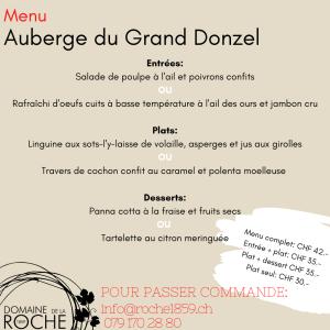 grand donzel menu