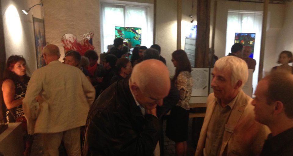 ©RocheGardies peintre ateliers loire  vernissage Exposition Chartres en vitrail  galerie du vitrail 2016 Pierre Carron, Didier Sancey, Tetsuo Harada,  Antoine Vincent , Leslie Xuereb.13