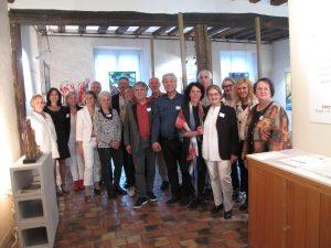 vernissage, artistes de l'exposition Chartres en vitrail