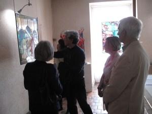 ©RocheGardies peintre ateliers loire  vernissage Exposition Chartres en vitrail  galerie du vitrail 2016 Pierre Carron, Didier Sancey, Tetsuo Harada,  Antoine Vincent , Leslie Xuereb.22 22 - copie