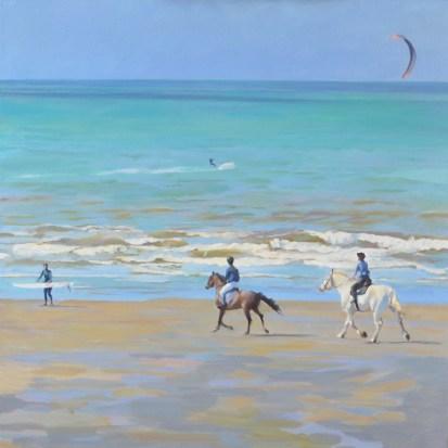 Kite horse, huile sur toile 70x70cm