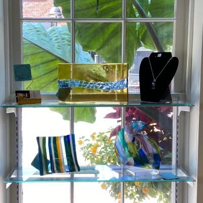 art setting in the window
