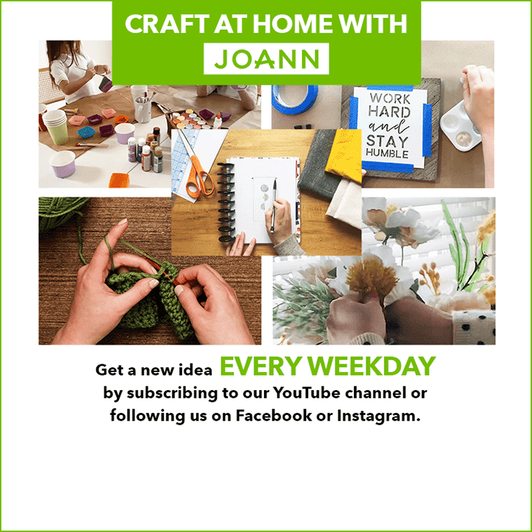 Virtual Event Crafts At Home With Joann Weekdays 10am Eastern Family Crafts 7pm Eastern Grown Up Crafts From Joann Fabric And Craft Stores Kids Out And About Rochester