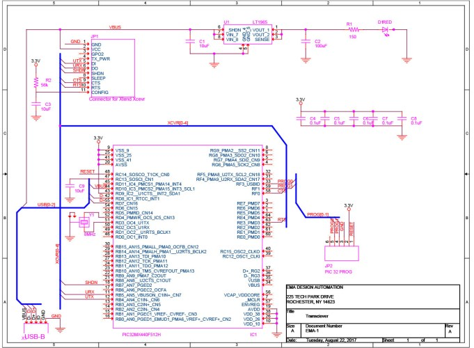 Create a Schematic for an Electronic Design