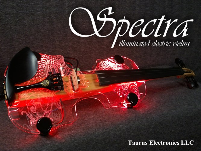 Spectra Illuminated Electric Violins