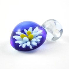 Francesca DeCaire Implosion flower blue and yellow-3
