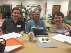 The Young Birders of Rochester (Nick and Robert) with their mentor, Lynn Bergmeyer
