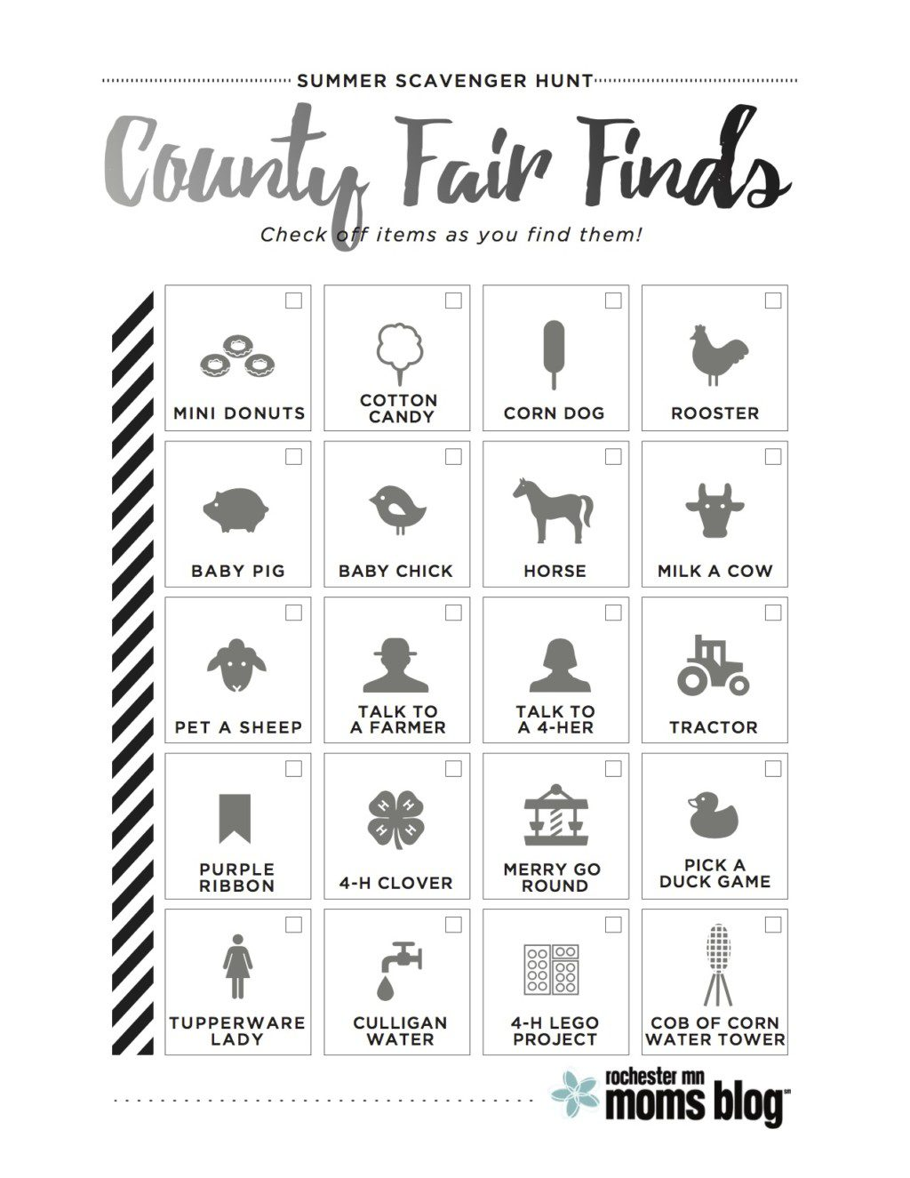 Olmsted County Fair Scavenger Hunt {+ Free Printable!}