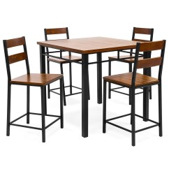 Overstock Com Dining Room Chairs Louis Xv Style 5 Piece Counter Height Set  Vintage Oak