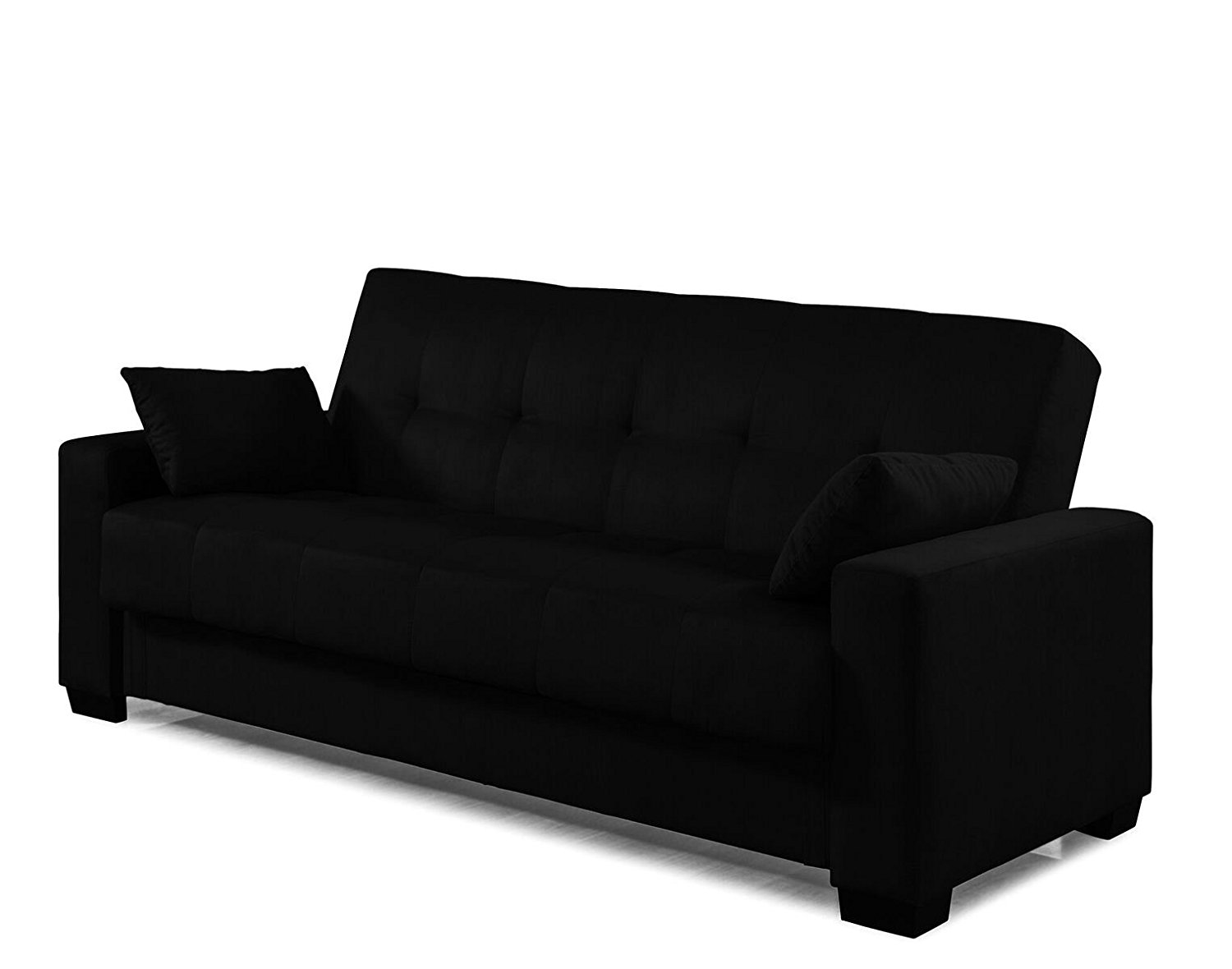 quality sofas for less best way to clean fabric sofa arms microfiber sleeper bed and lounger with storage black