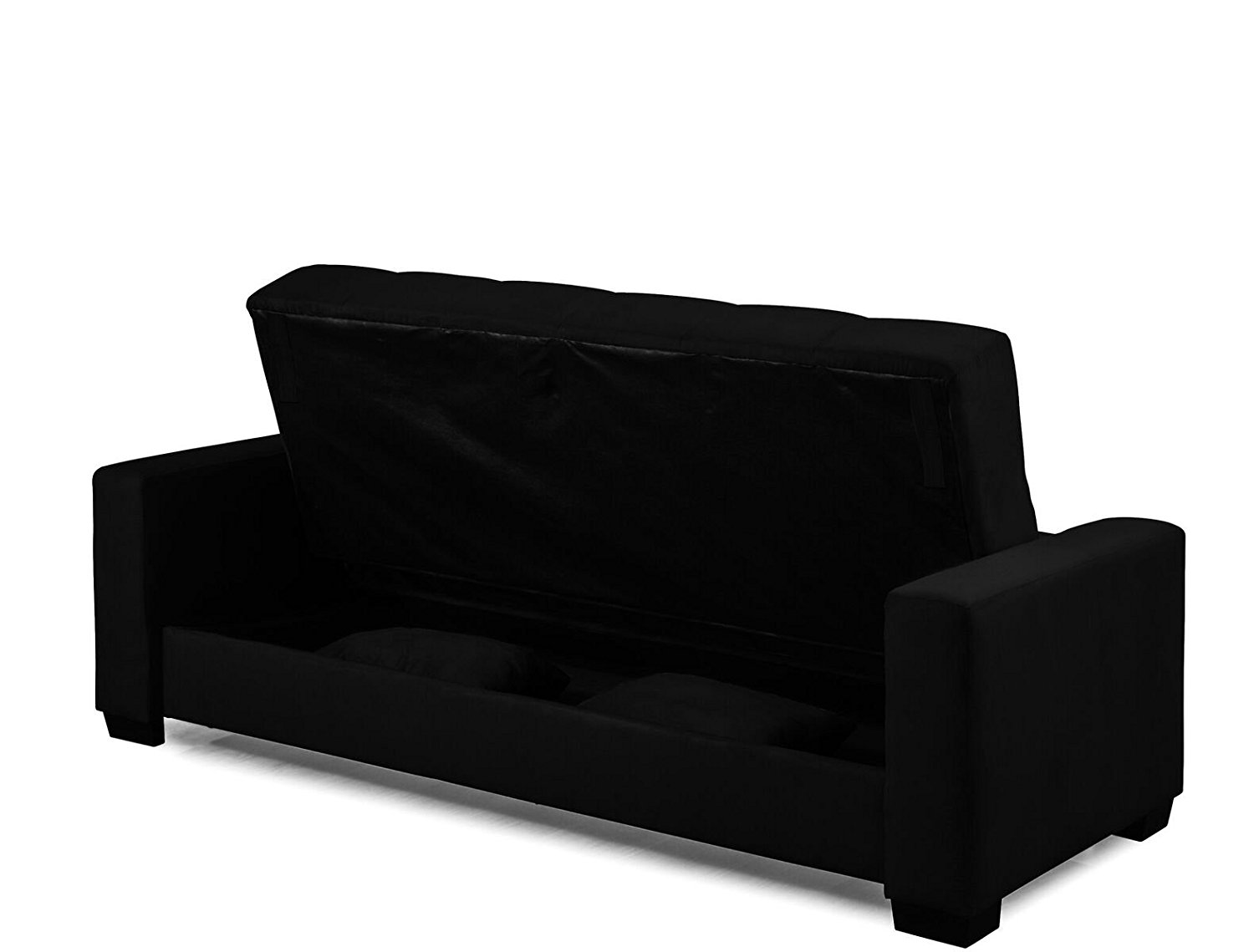 sofa lounger sleeper max home reviews microfiber bed and with storage black