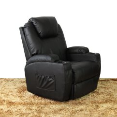 Ergonomic Chair Lounge Iron Throne Cover Massage Recliner Heated Pu Leather