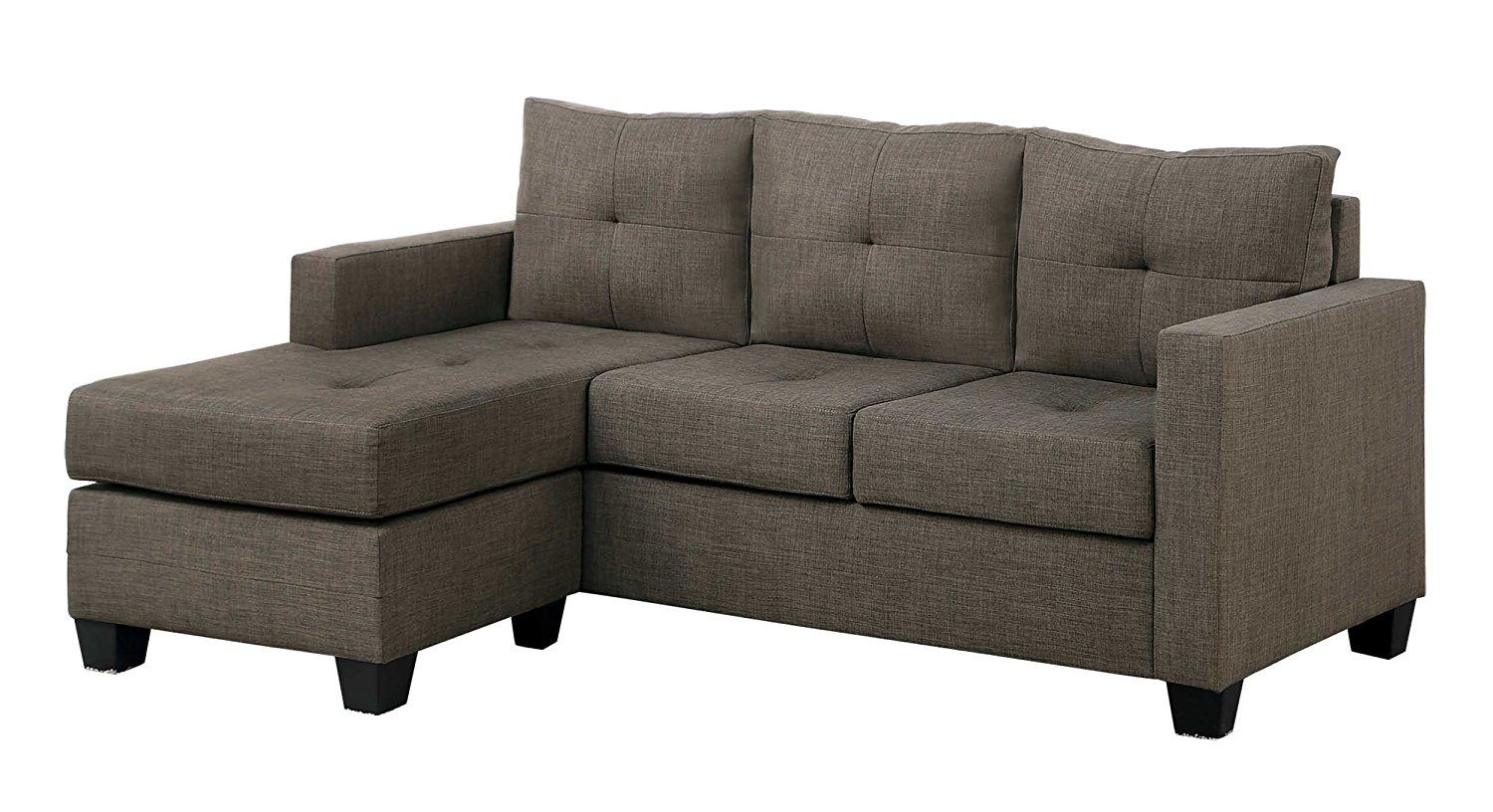 reversible sectional sofas with chaise lower mainland microfiber sofa 43 ottoman