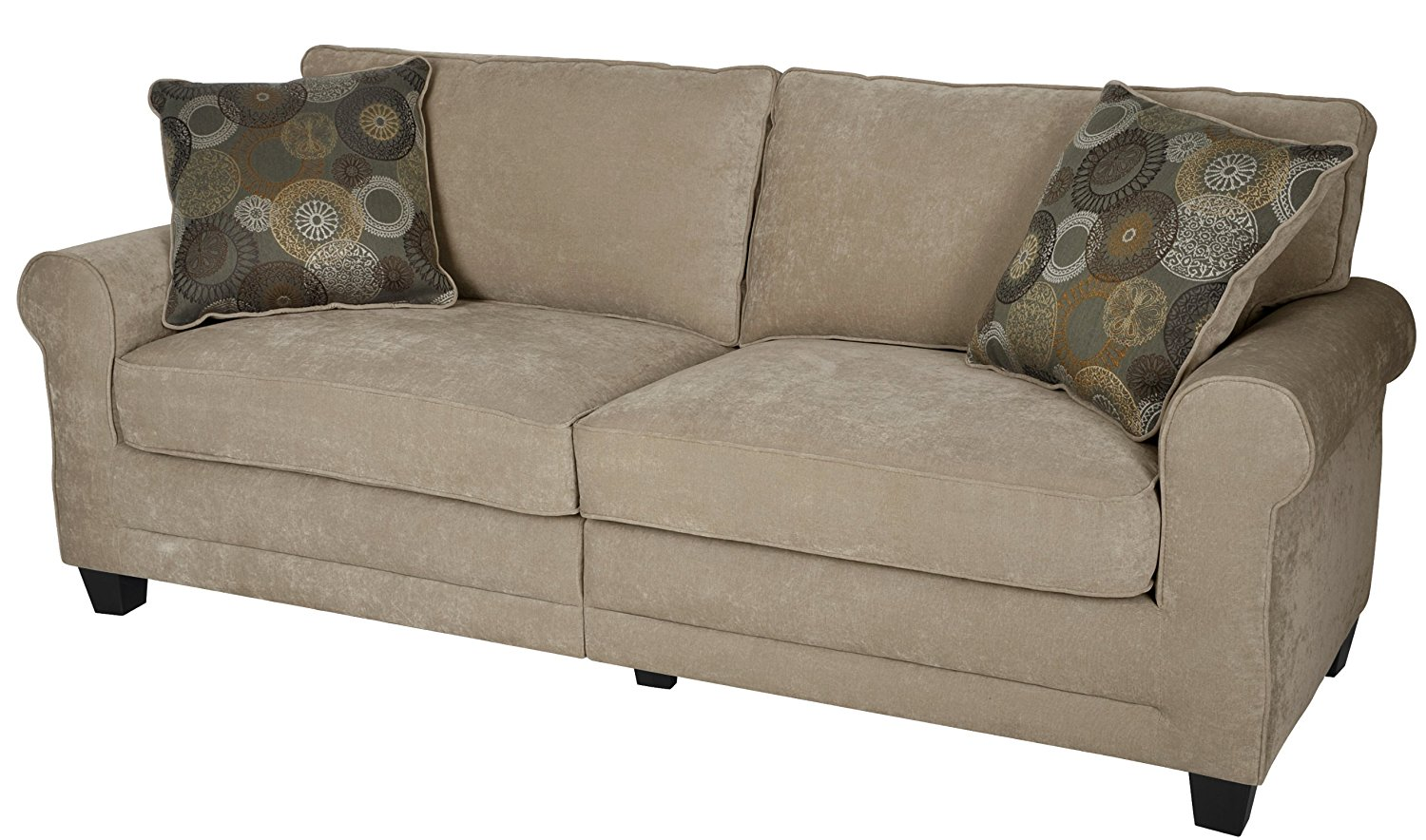 air sofa kam bad the pink co uk serta luxury tan 78 in light brown  rochester