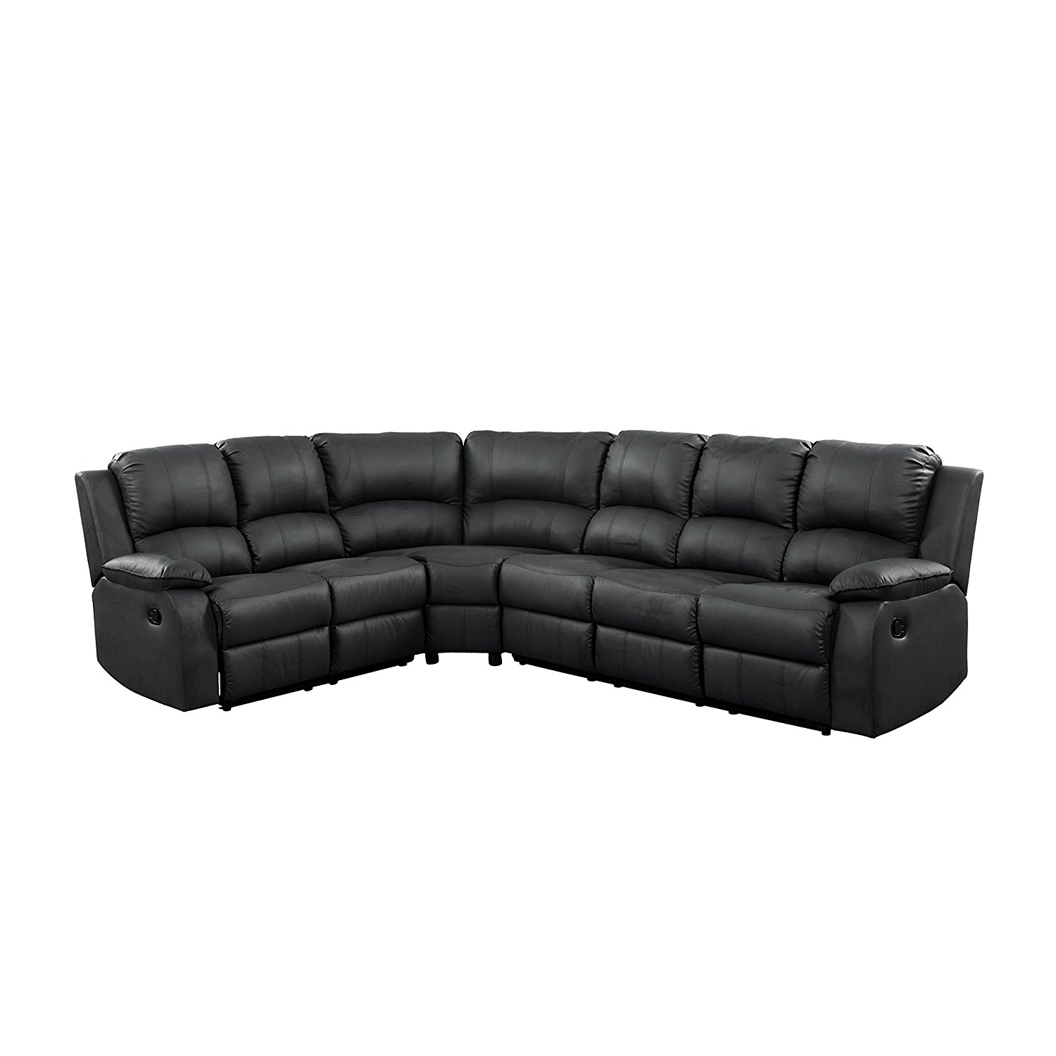 black leather corner sofa recliner madeline by vie boutique extra large reclining sectional for