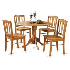 Oak Kitchen Table And Chairs Pfister Faucet Parts 5 Piece Round 2 Dinette Set