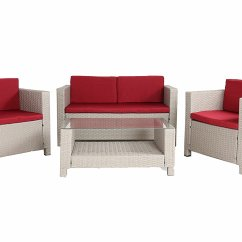 Overstock Com Chairs Living Room Hammock Chair Large 4 Pc Modern Beige Rattan Wiker Sofa Set Outdoor