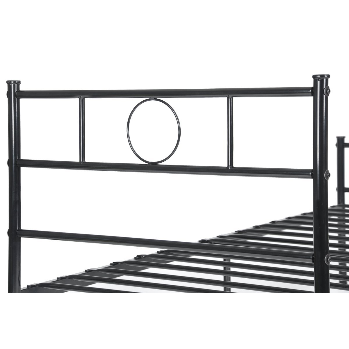 Twin Size Bed Frame Stable Metal Slat Support No Boxspring