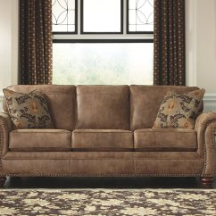 Ashley Furniture Modern Sofa Flexsteel Reclining Leather Signature Design