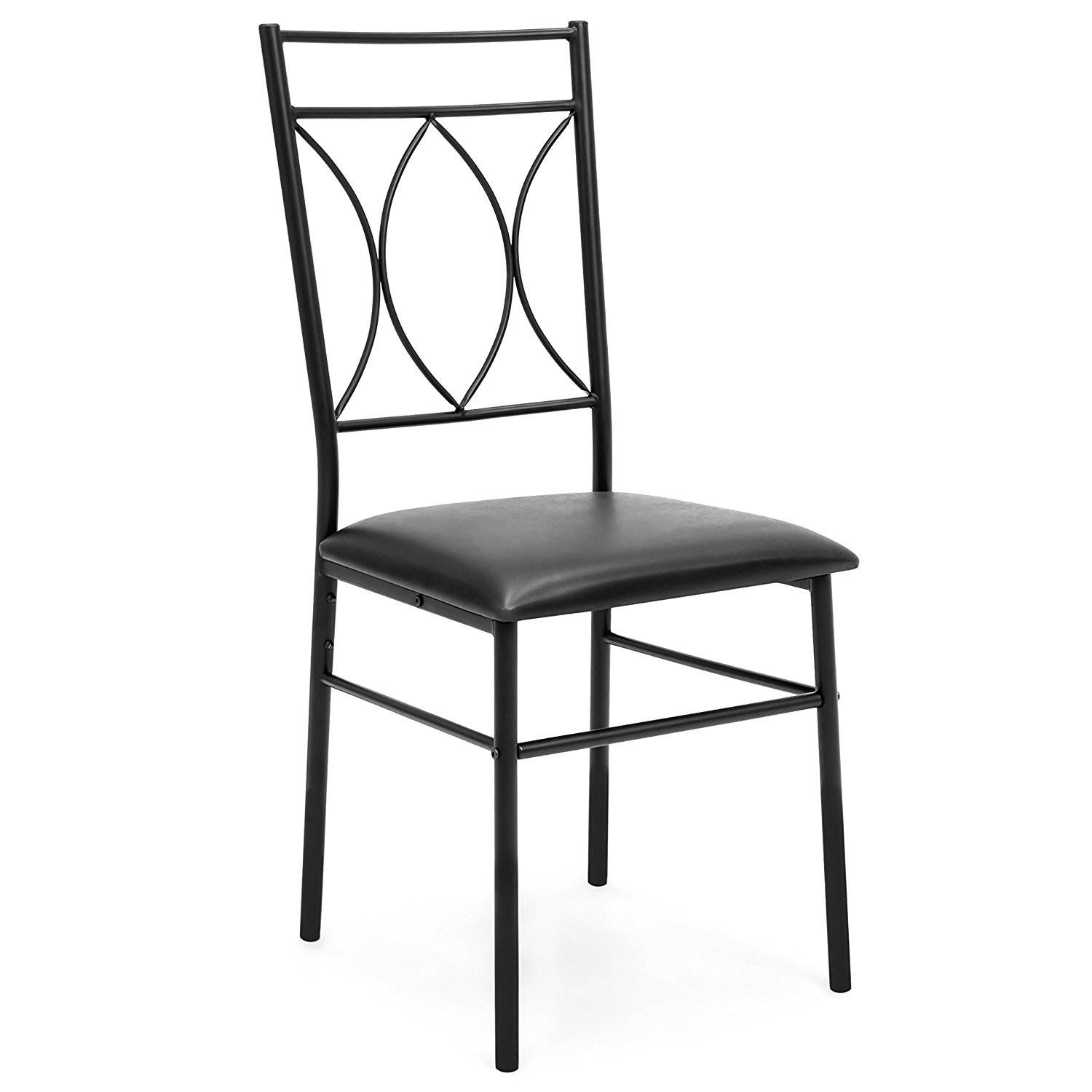 black metal and wood dining chairs desk chair mesh coral 5 piece set w table faux