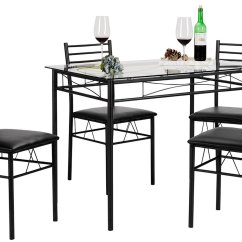 Dining Chairs Overstock Diy Wood Tiffany Table With 4 Black  Rochester