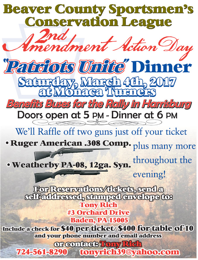 BCSCL 2nd Amendment Action Day Dinner