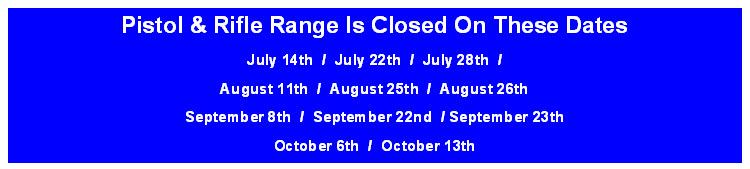 Range Closed Dates