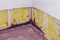 It is sometimes needed to partially open a drywall to waterproof a basement