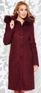 paltoane elegante ieftine bordo cu blana