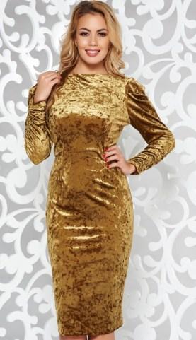 rochie catifea de ocazie