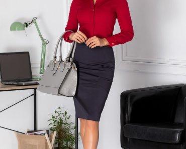 Fusta Natalia office bleumarin