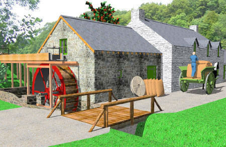 CAD of Roch Mill, near Newgale, St Davids and Solva, Pembrokeshire Coast National Park, South West Wales