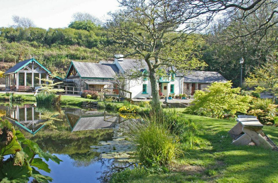 Granary self-catering accommodation main pond, near St Davids, Solva and Newgale, Pembrokeshire Coast National Park, West Wales
