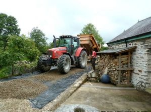 Driveway reconstruction at Roch Mill and eco friendly Granary holiday rental cottage, near Solva, St Davids and Newgale, Pembrokeshire Coast National Park, South West Wales