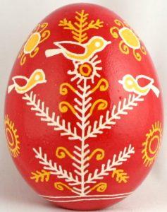 Huevos pysanky ucranianos motivos pájaros