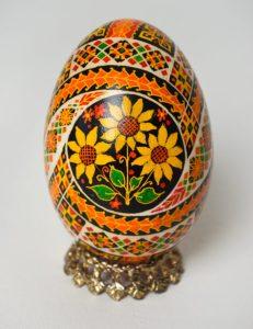 Huevos pysanky ucranianos motivos flores