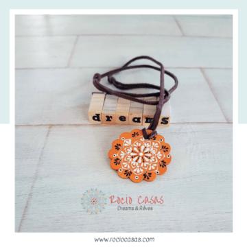 Collar Boho Mandala naranja